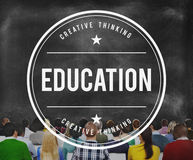 Concept d'étude d'intelligence d'étude de la connaissance d'éducation Images libres de droits