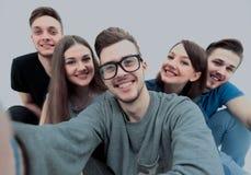 Concept d'étudiant et d'amis réussis d'amitié-un Photo stock