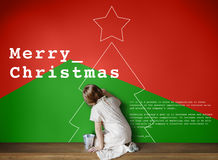 Concept d'événement de célébration de Joyeux Noël Image libre de droits