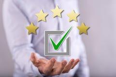 Concept d'évaluation images stock
