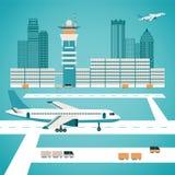 Concept d'aéroport de vecteur illustration libre de droits