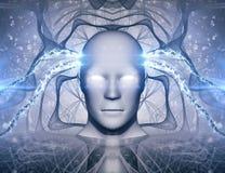 Concept d'abrégé sur intelligence artificielle d'AI illustration stock