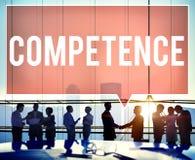 Concept d'accomplissement de compétence de capacité de compétence de compétence images libres de droits