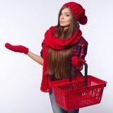 Concept d'achats d'hiver photos stock