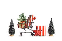Concept d'achats de Noël image libre de droits