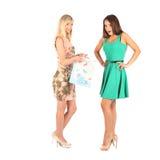 Concept d'achats et de tourisme - belles filles avec des sacs Image libre de droits