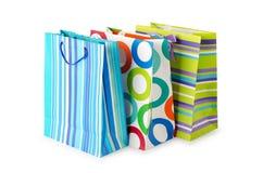 Concept d'achats - sac sur le blanc Image stock