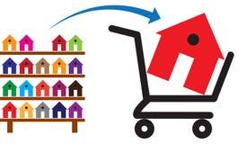Concept d'acheter une maison ou une propriété en vente illustration de vecteur