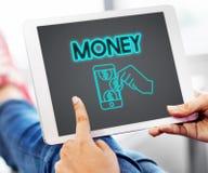 Concept d'actifs comptables de finances d'argent liquide d'argent photographie stock libre de droits