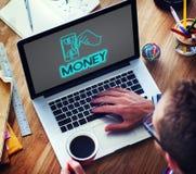 Concept d'actifs comptables de finances d'argent liquide d'argent images stock