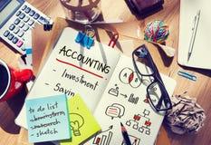 Concept d'actifs comptables de revenu de commerce de budget image stock