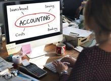 Concept d'actifs comptables de revenu de commerce de budget photographie stock