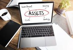 Concept d'actifs comptables de revenu de commerce de budget photo libre de droits