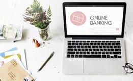 Concept d'action bancaire de revenu de crédit pour paiement comptant de capitalisme photographie stock