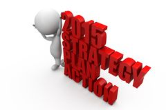 concept d'action de plan de stratégie de l'homme 3d Photographie stock libre de droits