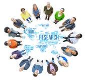 Concept d'action de résultat de réponse de rapport d'étude de recherches illustration libre de droits