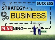 Concept d'action de succès de stratégie de planification des affaires Image stock