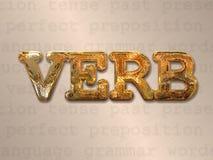Concept d'action de verbe Image stock