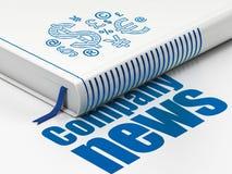 Concept d'actualités : réservez les finances des actualités de Symbol, Company sur le fond blanc Illustration Libre de Droits