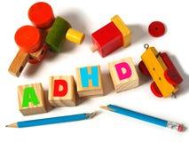 Concept d'ADHD avec des jouets image stock