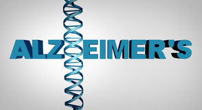 Concept d'ADN d'Alzheimer illustration de vecteur