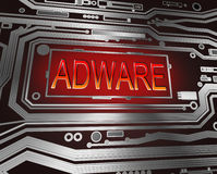 Concept d'Adware. Images stock