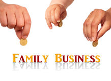 Concept d'affaire de famille. Photos stock