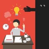 Concept d'affaires Équipez le travail tard dans la nuit Image stock
