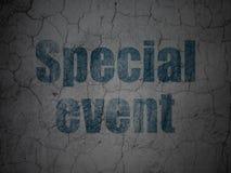 Concept d'affaires : Événement spécial sur le mur grunge Images libres de droits