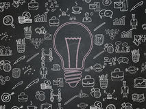 Concept d'affaires : Ampoule sur le conseil pédagogique Images libres de droits