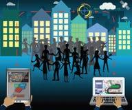 Concept d'affaires, analytics d'emplacement et données d'utilisation à lancer le pl sur le marché Photographie stock