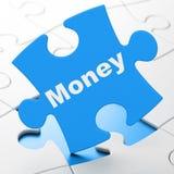 Concept d'affaires : Argent sur le fond de puzzle Image stock
