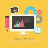 Concept d'affaires avec la barre et les éléments statistiques Images libres de droits