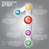 Concept d'affaires avec 5 options, parts, étapes ou processus canette illustration de vecteur