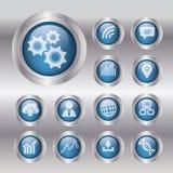 Concept d'affaires avec 13 options, parts, étapes ou processus canette illustration stock