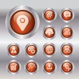 Concept d'affaires avec 13 options, parts, étapes ou processus canette illustration libre de droits