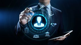 Concept d'affaires d'avis juridique de recommandation d'avocat d'avocat image stock