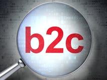 Concept d'affaires : B2c avec le verre optique Image stock