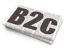 Concept d'affaires : B2c sur le fond de journal Image libre de droits