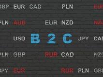 Concept d'affaires : B2c sur le fond de mur Image libre de droits