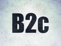 Concept d'affaires : B2c sur le fond de papier de données numériques Photo stock