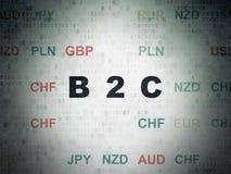 Concept d'affaires : B2c sur le fond de papier de données numériques Photo libre de droits
