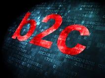 Concept d'affaires : B2c sur le fond numérique Images stock