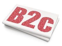 Concept d'affaires : B2c sur le fond vide de journal Photographie stock