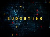 Concept d'affaires : Budgétisation sur le fond de Digital Photo stock