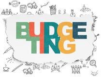 Concept d'affaires : Budgétisation sur le papier déchiré Photos libres de droits