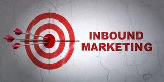 Concept d'affaires : cible et vente d'arrivée dessus Image libre de droits