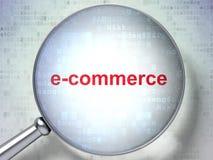 Concept d'affaires : Commerce électronique avec le verre optique Images stock