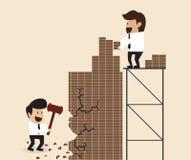Concept d'affaires : Construisez et détruisez illustration de vecteur