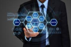 Concept d'affaires : décision de stratégie corporate photo stock